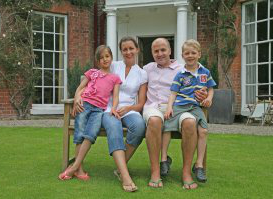 Will Hughes and his family at Ridgemount